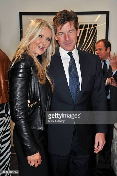 Amanda Wakeley and Hugh Morrison attend the opening of the new Amanda Wakeley store on January 30 2014 in London England