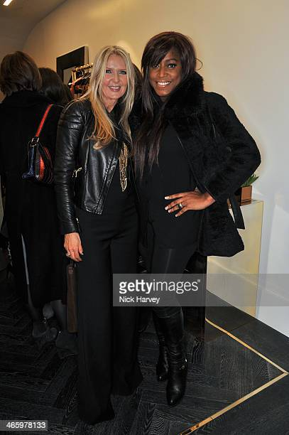 Amanda Wakeley and Mica Paris attend the opening of the new Amanda Wakeley store on January 30 2014 in London England