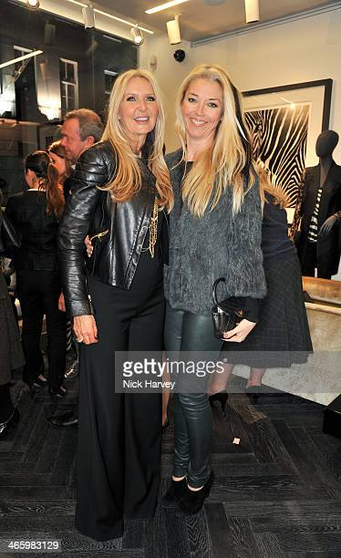 Amanda Wakeley and Tamara Beckwith attend the opening of the new Amanda Wakeley store on January 30 2014 in London England