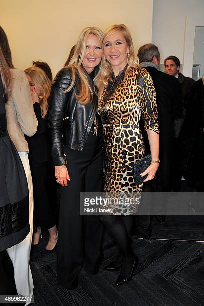 Amanda Wakeley and Tania Bryer attend the opening of the new Amanda Wakeley store on January 30 2014 in London England
