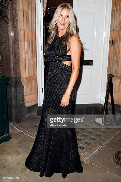 Amanda Wakeley arrives at Harry's Bar for the Amanda Wakeley And British Vogue Dinner on September 7 2015 in London England Photo by Alex Huckle/GC...