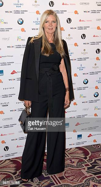Amanda Wakeley arriving at the WGSN Global Fashion Awards at the Park Lane Hotel in London