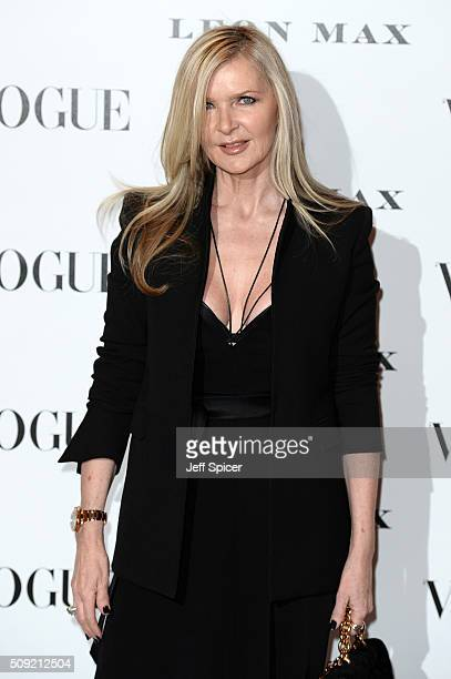 Amanda Wakeley attends at Vogue 100 A Century Of Style at the National Portrait Gallery on February 9 2016 in London England