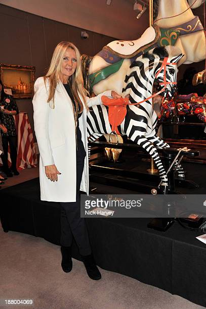Amanda Wakeley attends 'Stars Rocking' Cocktail Party at Sotheby's Kiddell Gallery on November 14 2013 in London England