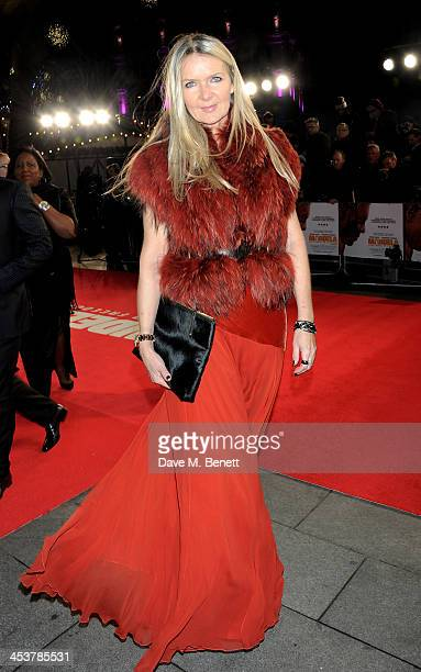 Amanda Wakeley attends the Royal Film Performance of Mandela Long Walk to Freedom at Odeon Leicester Square on December 5 2013 in London United...