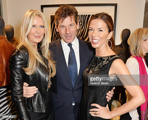 Amanda Wakeley Hugh Morrison and Heather Kerzner attend the launch of the Amanda Wakeley London flagship store on January 30 2014 in London England