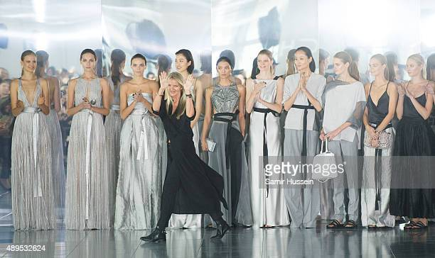 Amanda Wakely walks the runway at the Amanda Wakeley show during London Fashion Week Spring/Summer 2016/17 on September 22 2015 in London England