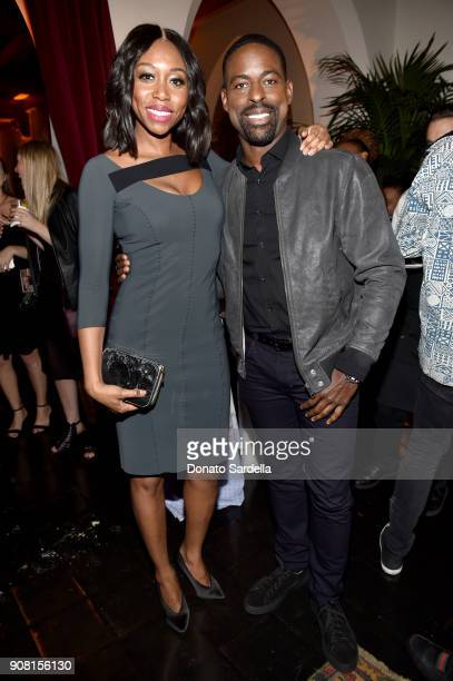 Amanda Warren and Sterling K Brown attend Entertainment Weekly's Screen Actors Guild Award Nominees Celebration sponsored by Maybelline New York at...