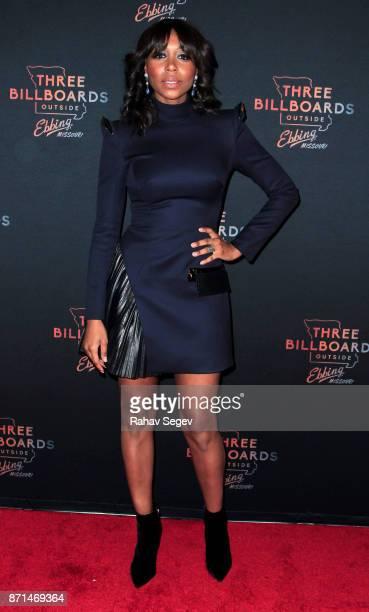 Amanda Warren attends the premiere of 'Three Billboards Outside Ebbing Missouri' on November 7 2017 in New York City