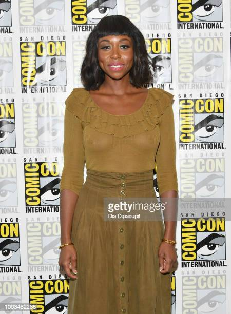 Amanda Warren attends the 'The Purge' Press Line during ComicCon International 2018 at Hilton Bayfront on July 21 2018 in San Diego California