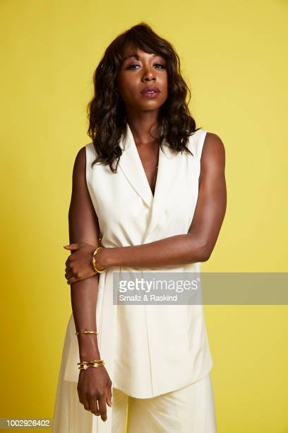 Amanda Warren from Syfy's 'The Purge' poses for a portrait at the Getty Images Portrait Studio powered by Pizza Hut at San Diego 2018 Comic Con at...