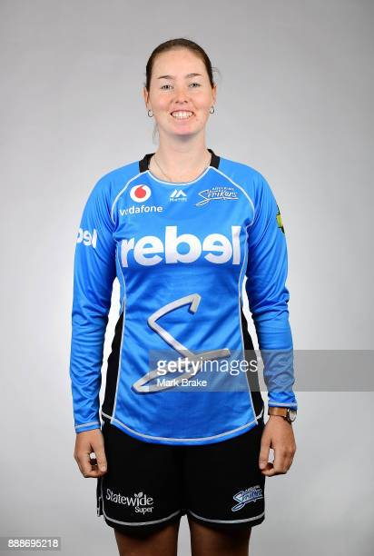 Amanda Wellington 04 poses during the Adelaide Strikers WBBL headshots session on December 5 2017 in Adelaide Australia