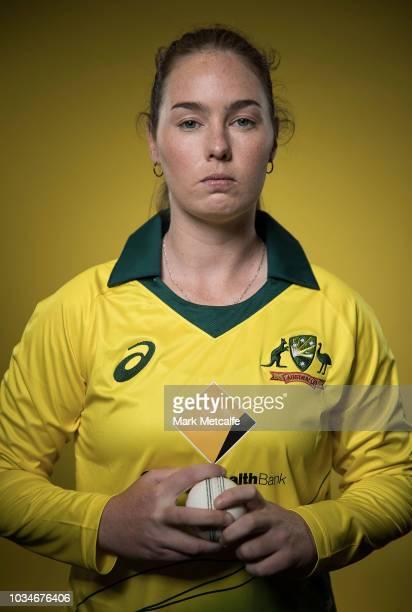 Amanda Wellington poses during the Cricket Australia Women's National Squad Player Camp on September 13 2018 in Sydney Australia