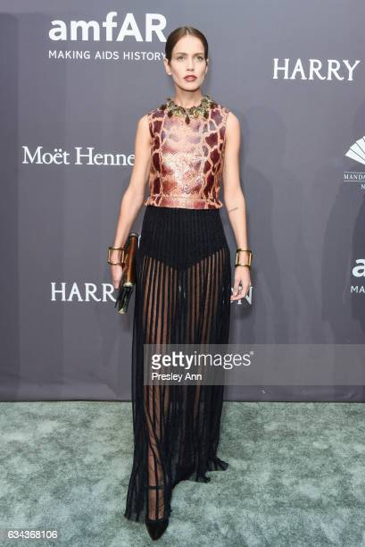 Amanda Wellsh attends 19th Annual amfAR New York Gala Arrivals at Cipriani Wall Street on February 8 2017 in New York City