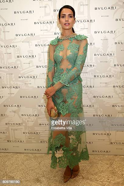 Amanda Wellsh attends the Bvlgari Tribute To Spanish Steps Opening Event on September 22 2016 in Rome Italy