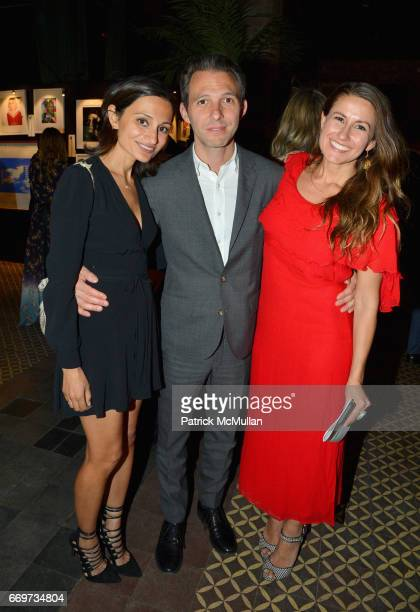 Amanda Wilkes Justin Wilkes and Zara Duffy attend The Turtle Conservancy's 4th Annual Turtle Ball at The Bowery Hotel on April 17 2017 in New York...