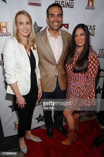 Amanda Williams Texas General Land Commissioner George P Bush and Melanie Luttrell arrive at the Texas Honors event to celebrate the epic new HISTORY...