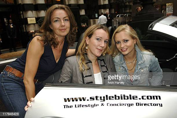 Amanda Zuydervelt and Claire Kellock from Stylebible with Anouska De Georgiou