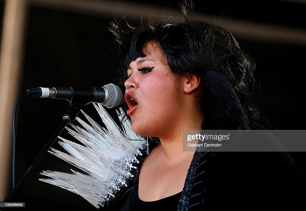 Amandah Wilkinson of Operator Please performs on stage during the Big Day Out Festival at Flemington Racecourse on January 30, 2011 in Melbourne, Australia.