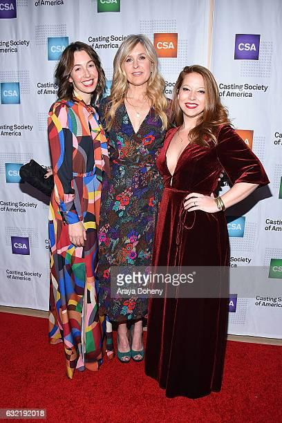Amander Lenker Doyle Christine Smith Shevchenko and Alexis Frank Koczara arrive at the 2017 Annual Artios Awards at The Beverly Hilton Hotel on...