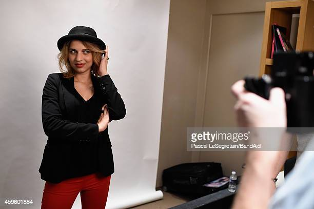 Amandine Bourgeois attends the Band Aid 30 'Noel est la' Recording on November 23 2014 in Paris France