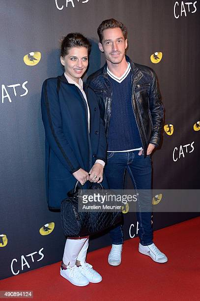 Amandine Bourgeois attends the 'Cats' photocall at Theatre Mogador on October 1 2015 in Paris France