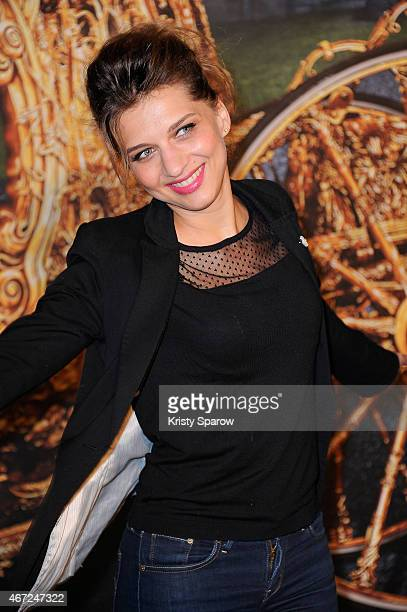 Amandine Bourgeois attends the Cinderella Paris Premiere at Le Grand Rex on March 22 2015 in Paris France