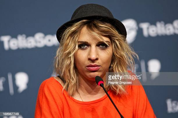 Amandine Bourgeois of France attends a photocall ahead of the finals of the Eurovision Song Contest 2013 at Malmo Arena on May 17 2013 in Malmo Sweden
