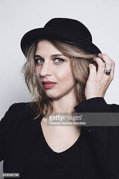 Amandine Bourgeois poses for a portrait session during the Band Aid 30 'Noel est la' single recording at Studio Grande Armee on November 23 2014 in...