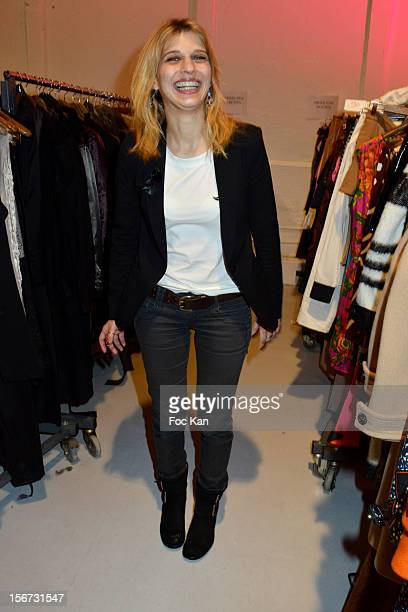 Amandine Bourgeoisattends 'La Braderie de L'Eclaireur 2012' in Benefit of Rose Association Against Cancer at Galerie Diana Marquardt on November 19...