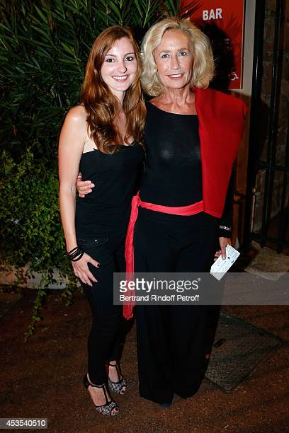 Amandine Charnay and actress Brigitte Fossey attend the Michel Boujenah's show 'Ma vie revee' for the last evening of the 30th Ramatuelle Festival...