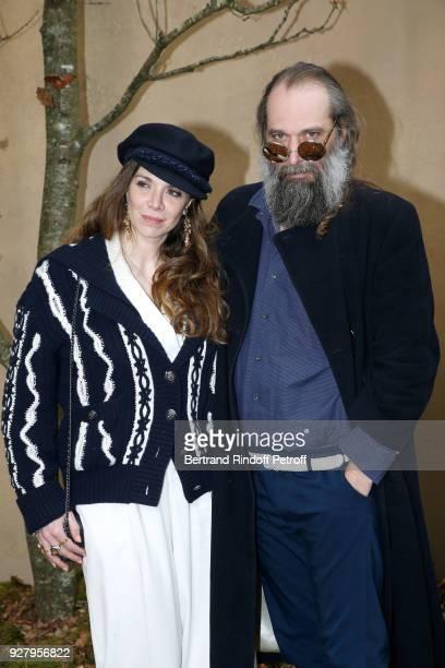 Amandine de la Richardiere and Sebastien Tellier attend the Chanel show as part of the Paris Fashion Week Womenswear Fall/Winter 2018/2019 on March 6...