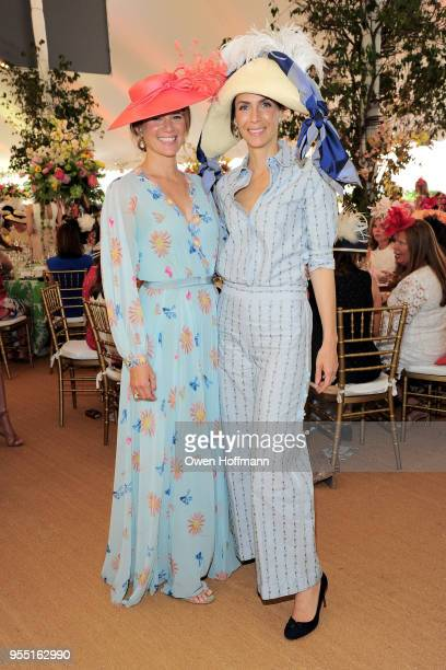 Amandine Freidheim and Alexia Leuschen attend 36th Annual Frederick Law Olmsted Awards Luncheon Central Park Conservancy at The Conservatory Garden...