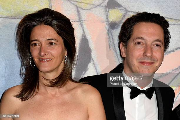 Amandine Gallienne and Guillaume Gallienne attend the Rose Ball 2014 in aid of the Princess Grace Foundation at Sporting MonteCarlo on March 29 2014...