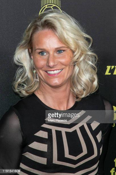 Amandine Henry attends the photocall during the Ballon D'Or Ceremony at Theatre Du Chatelet on December 02, 2019 in Paris, France.