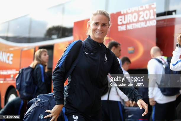 Amandine Henry of France arrives at the stadium prior to the UEFA Women's Euro 2017 Quarter Final match between France and England at Stadion De...