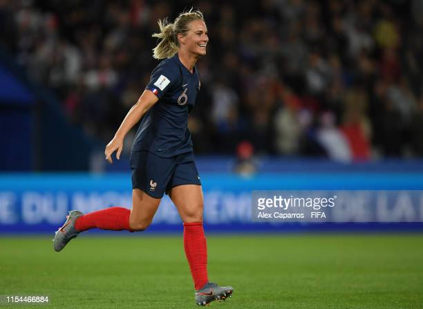 Amandine Henry of France celebrates after scoring her team's fourth goal during the 2019 FIFA Women's World Cup France group A match between France...