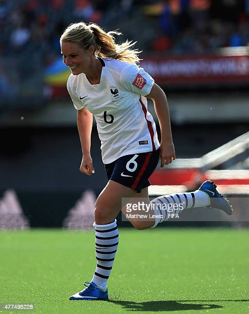 Amandine Henry of France celebrates her goal during the FIFA Women's World Cup 2015 Group F match between Mexico and France at Lansdowne Stadium on...