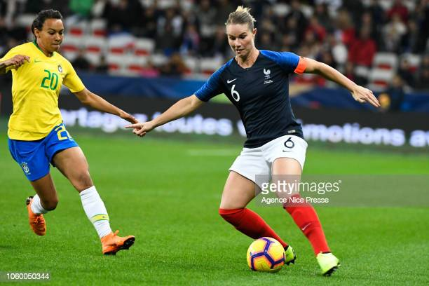 Amandine Henry of France during the International Women match between France and Brazil at Allianz Riviera Stadium on November 10, 2018 in Nice,...