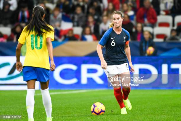 Amandine Henry of France during the International Women match between France and Brazil at Allianz Riviera Stadium on November 10 2018 in Nice France