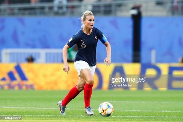 Amandine Henry of France during the Women's World Cup match between France and Nigeria at Roazhon Park on June 17 2019 in Rennes France