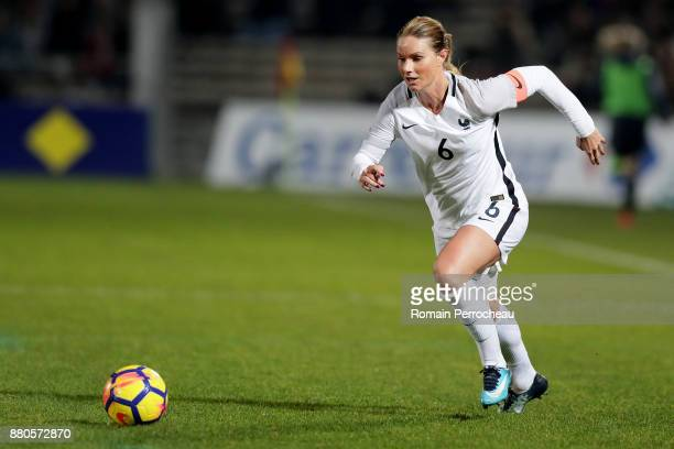 Amandine Henry of France in action during a Women's International Friendly match between France and Sweden at Stade ChabanDelmas on November 27 2017...