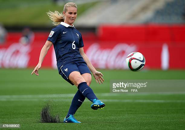 Amandine Henry of France in action during the FIFA Women's World Cup 2015 Group F match between France and England at the Moncton Stadium on June 9...