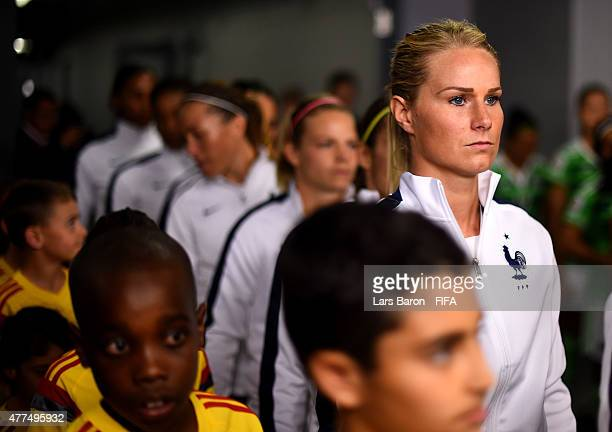 Amandine Henry of France is seen in the tunnel prior to the FIFA Women's World Cup 2015 Group F match between Mexico and France at Lansdowne Stadium...
