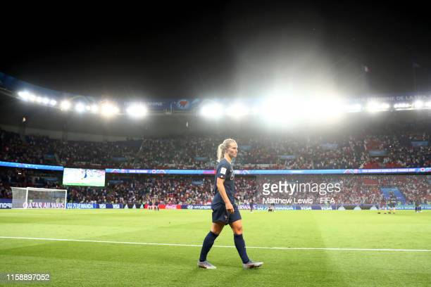 Amandine Henry of France looks dejected following the 2019 FIFA Women's World Cup France Quarter Final match between France and USA at Parc des...