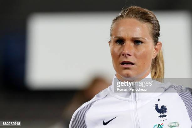 Amandine Henry of France looks on before a Women's International Friendly match between France and Sweden at Stade ChabanDelmas on November 27 2017...
