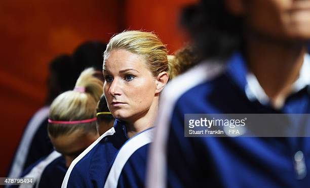 Amandine Henry of France ponders in the players tunnel during the quarter final match of the FIFA Women's World Cup between Germany and France at...