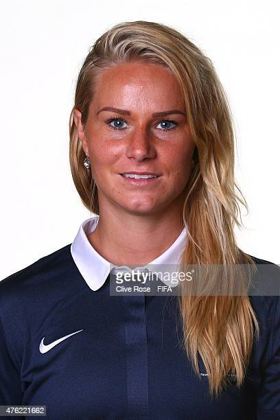 Amandine Henry of France poses during a FIFA Women's World Cup portrait session on June 6 2015 in Moncton Canada