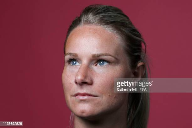 Amandine Henry of France poses for a portrait during the official FIFA Women's World Cup 2019 portrait session at Hotel Clairefontaine on June 04...