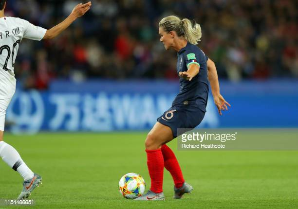 Amandine Henry of France scores her team's fourth goal during the 2019 FIFA Women's World Cup France group A match between France and Korea Republic...